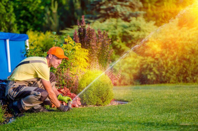 автоматический полив газона - встроенная система полива